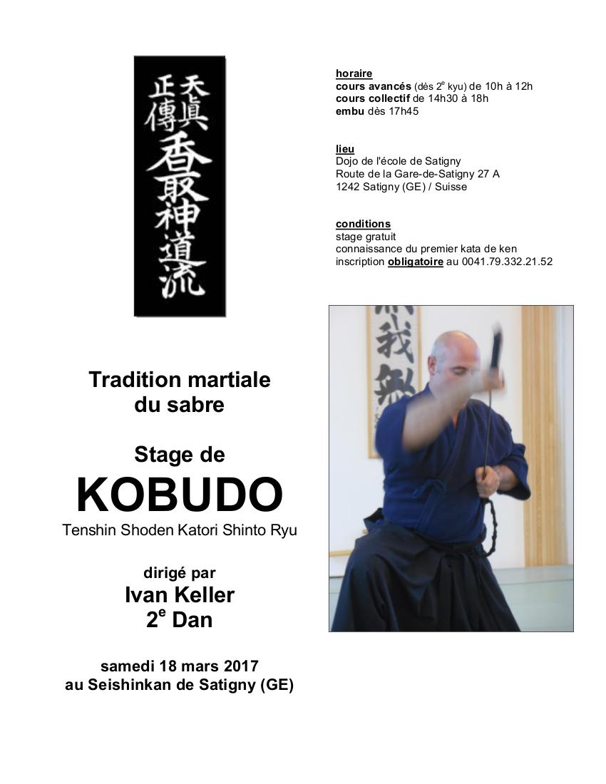 17 03 18 affiche stage kobudo ivan satigny