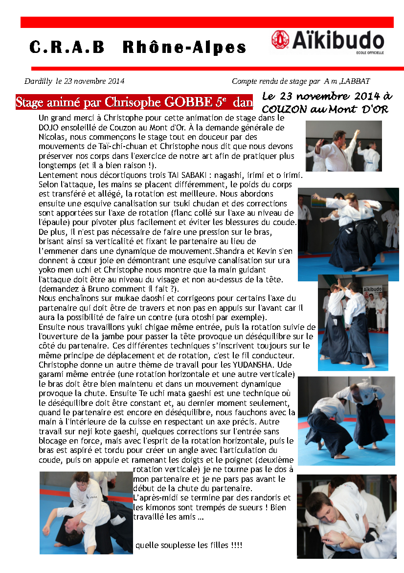 Cr stage couzon 2014 11 22